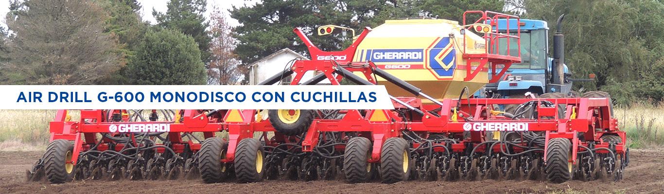 AIR DRILL G-600 MONODISCO CON CUCHILLAS